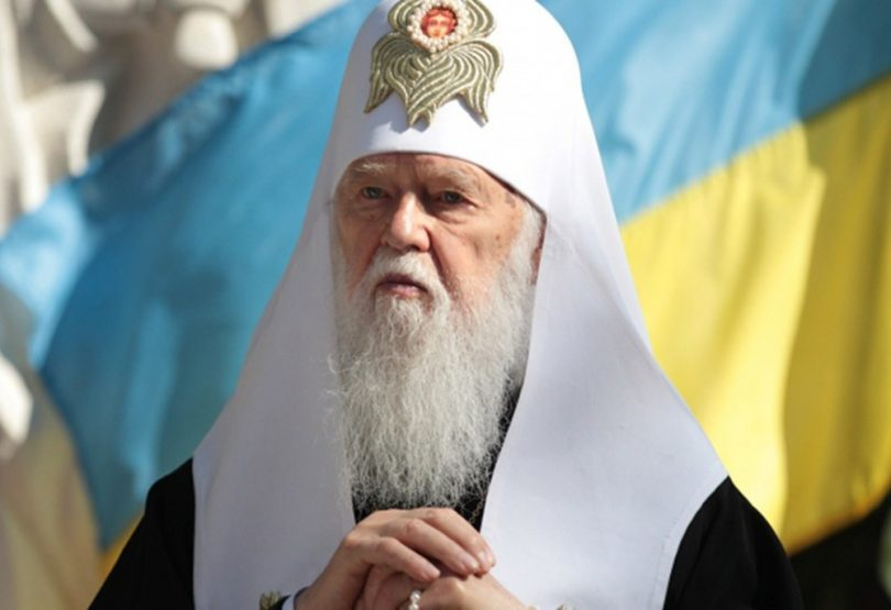 After the Liturgy, the Primate of the Ukrainian Orthodox Church of Kyiv Patriarchate consecrated the first in Ukraine sculpture of the Archangel Mikhail, devoted to the Heavenly hundred, soldiers who were killed in the ATO zone and all those who gave their lives for freedom and independence of Ukraine.